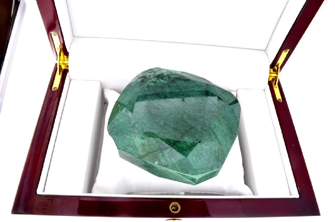 APP: 9.8k 2,346.00CT Cushion Cut Green Beryl Emerald