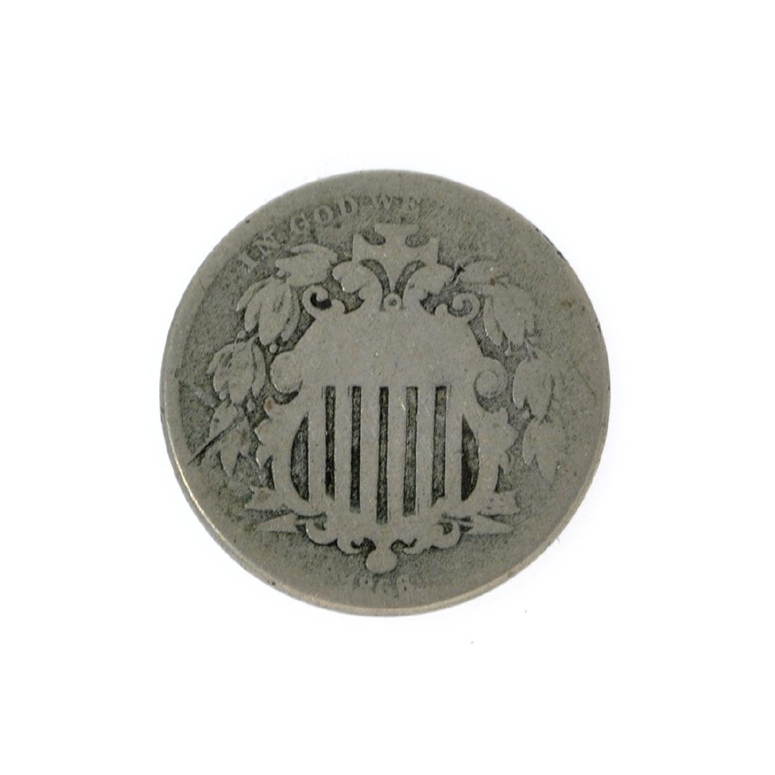 1866 Rays Shield Nickel Coin
