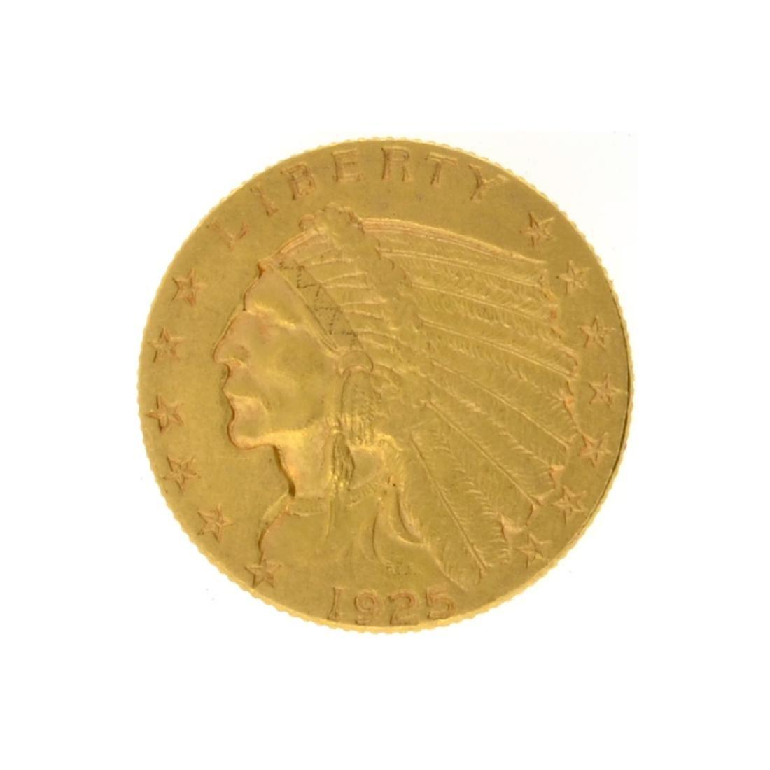 1925-D $2.50 Indian Head Gold Coin