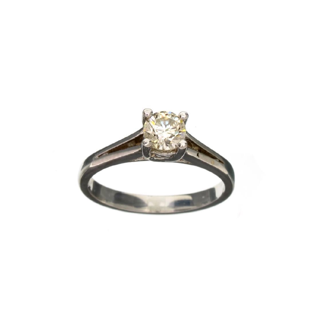 APP: 2k 14 kt. White Gold, 0.50CT Round Cut Diamond