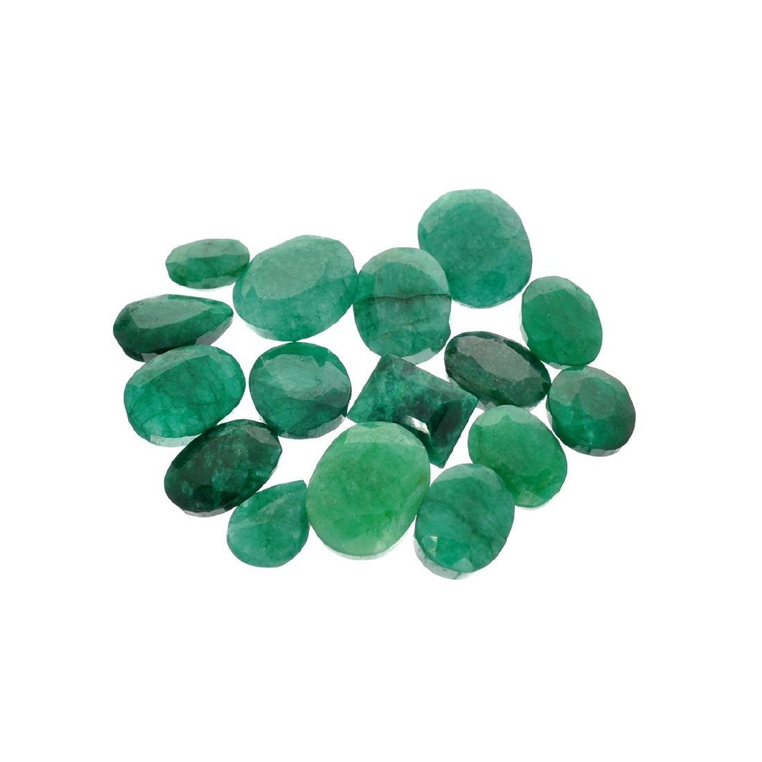 APP: 7.6k 100.94CT Various Shapes Green Emeral Parcel-