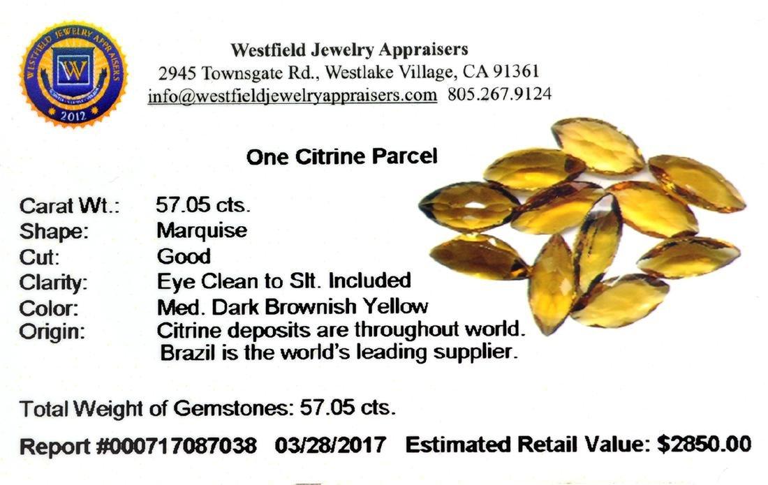 APP: 2.8k 57.05CT Marquise Cut Citrine Parcel - 2