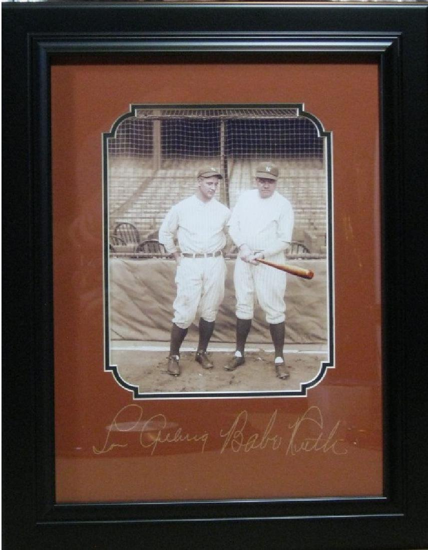 Babe Ruth and Lou Gehrig - Plate Signatures