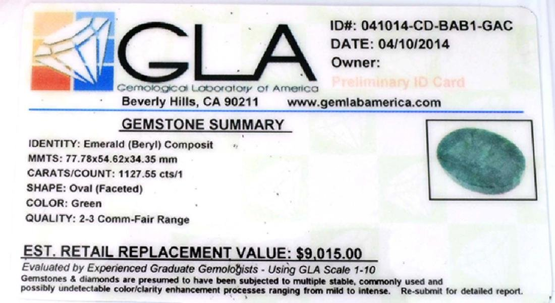 APP: 9k 1127.55CT Oval Cut Green Beryl Emerald Gemstone - 3