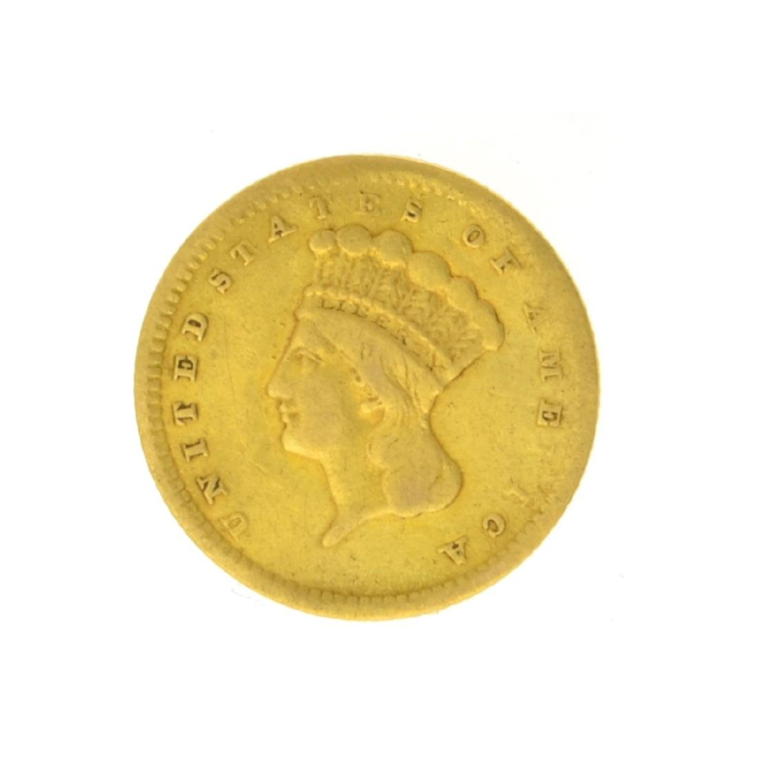 1856 $1 Large Indian Head Gold Coin