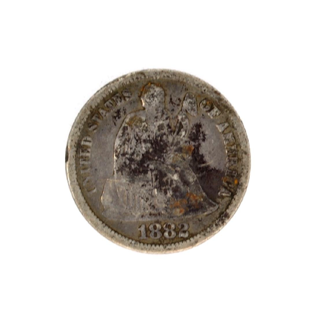 1882 Liberty Seated Dime Coin