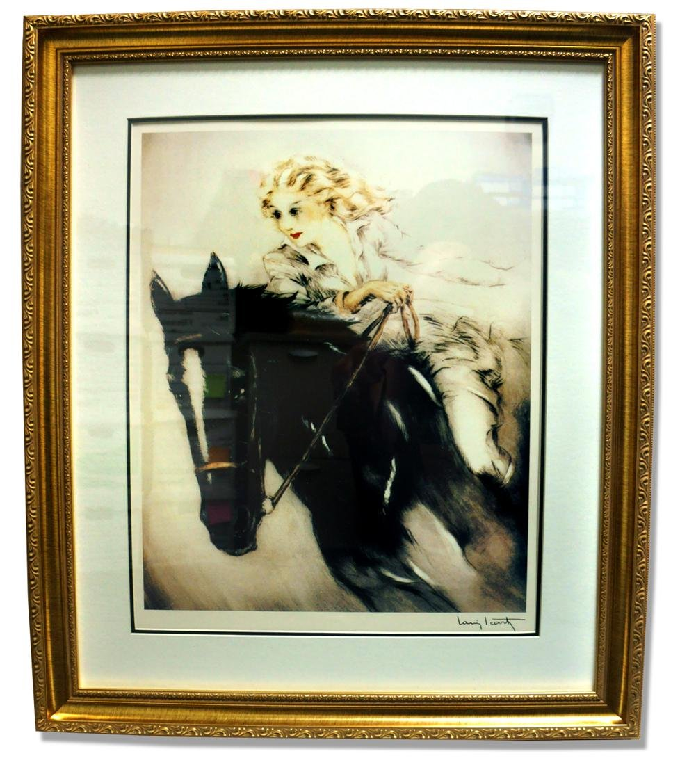 Icart (After) - The Horse Woman - Museum Framed Print