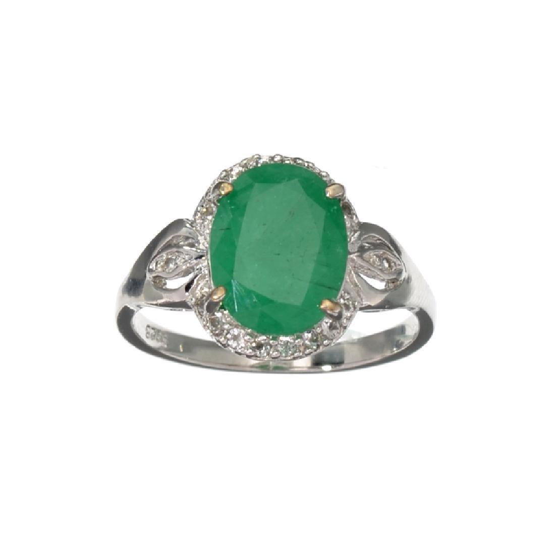 APP: 2.3k Fine Jewelry 2.00CT Oval Cut Green Emerald
