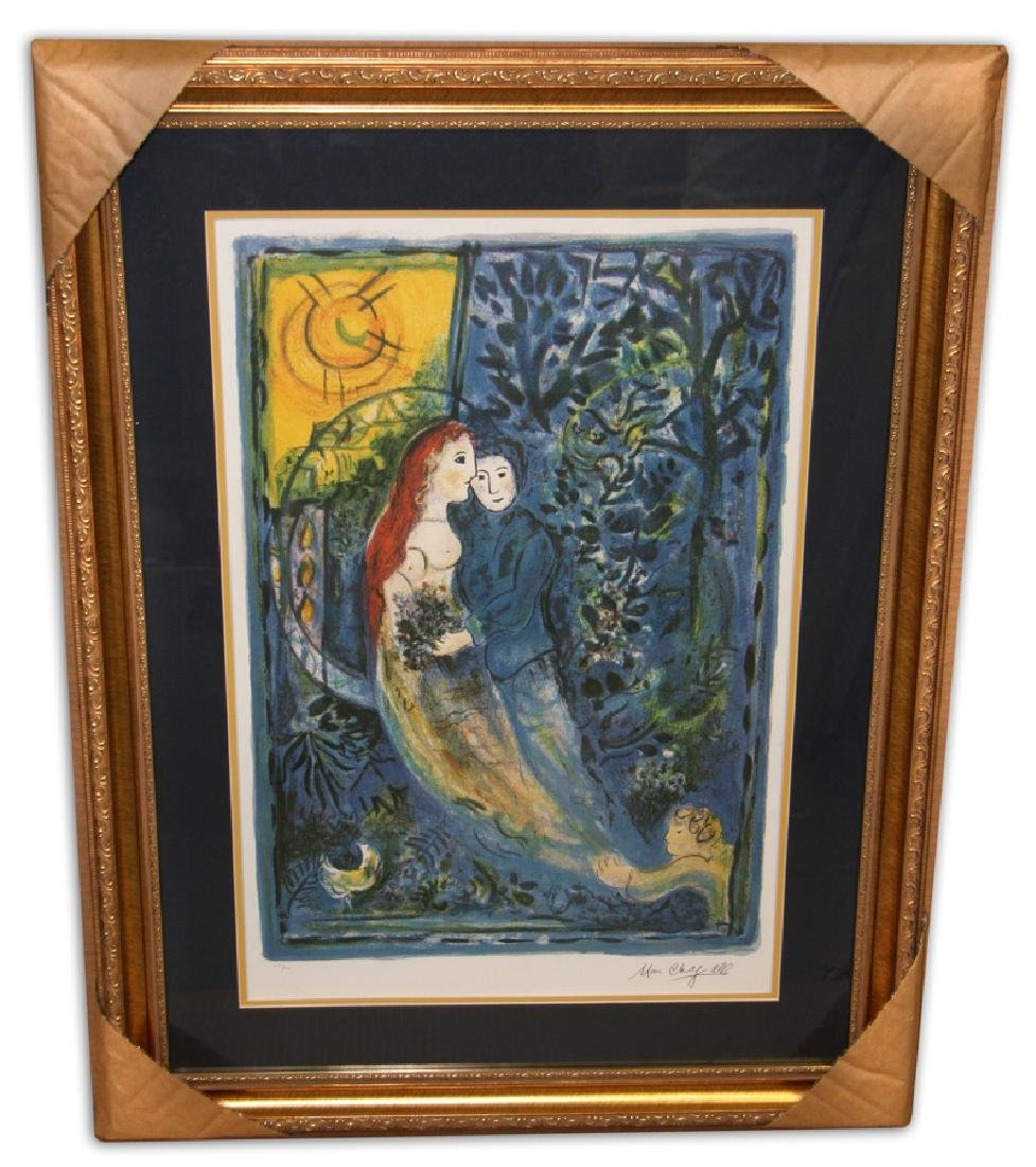 Marc Chagall (After) 'The Wedding' Museum Framed &