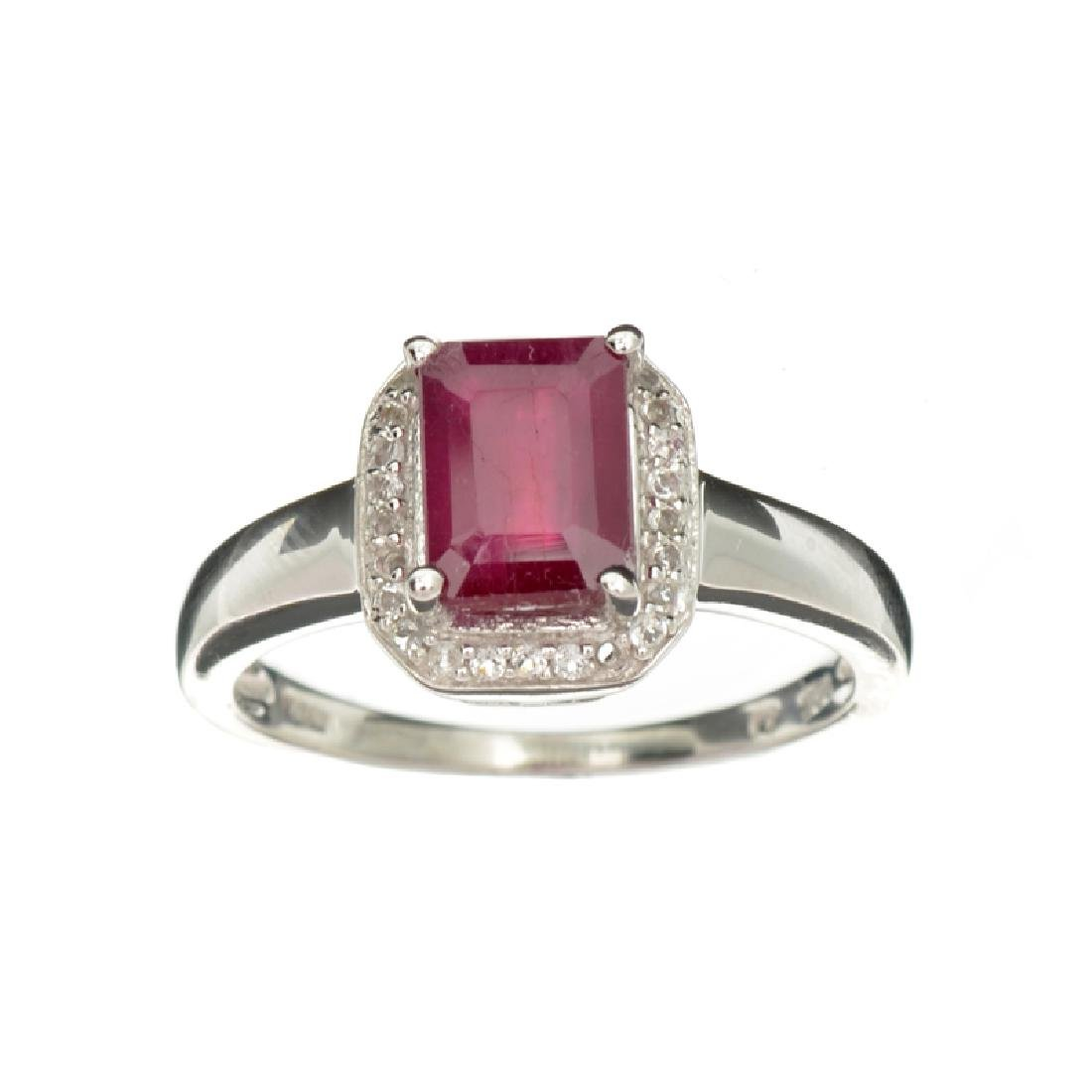 APP: 0.9k Fine Jewelry 1.98CT Red Ruby And White