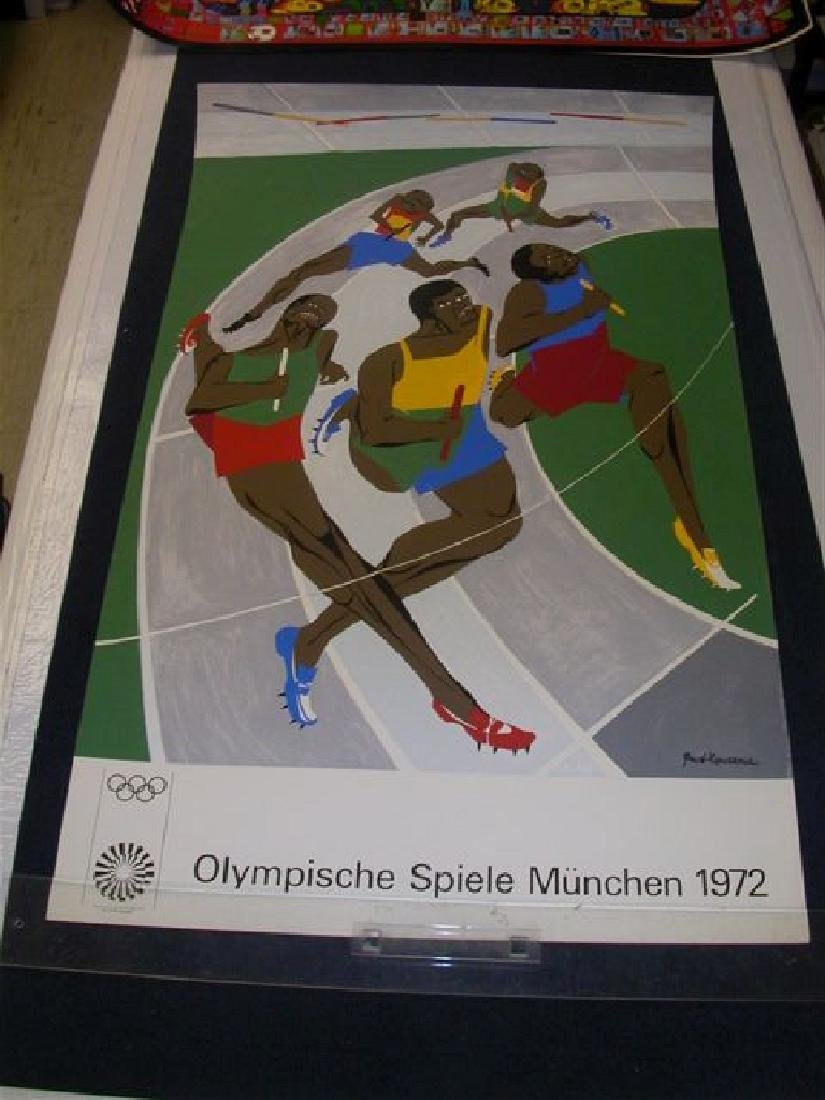 Poster from 1972 Munich Olympics NOT ON LINEN
