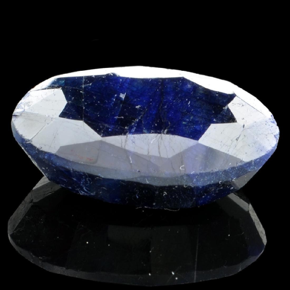 APP: 1.8k 37.27CT Oval Cut Blue Sapphire Gemstone