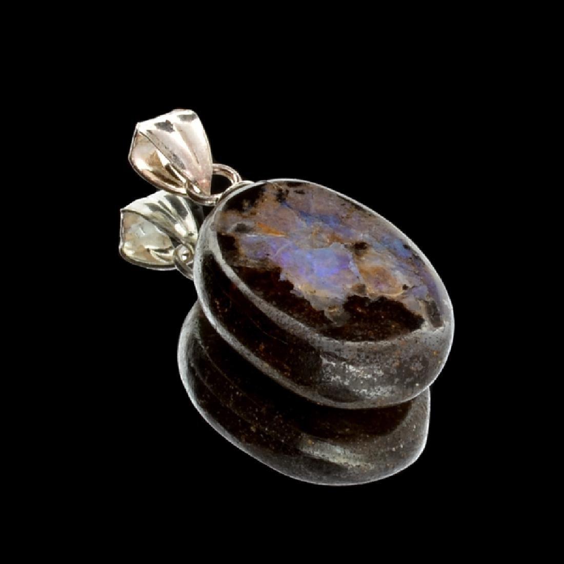 14.75CT Boulder Opal Sterling Silver Pendant