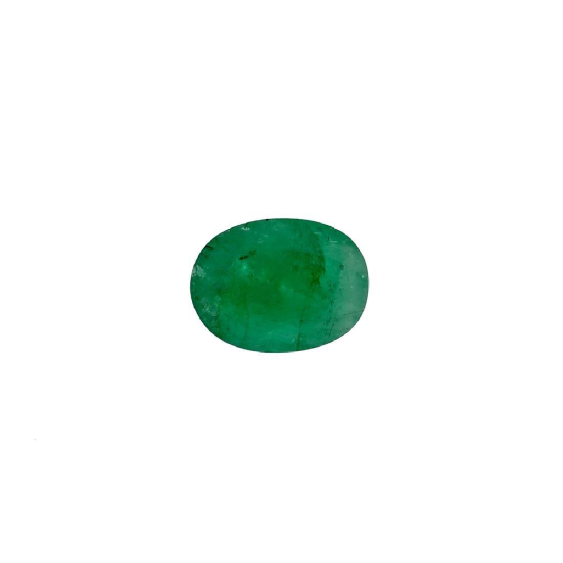 APP: 5.1k 5.07CT Oval Cut Green Emerald Gemstone