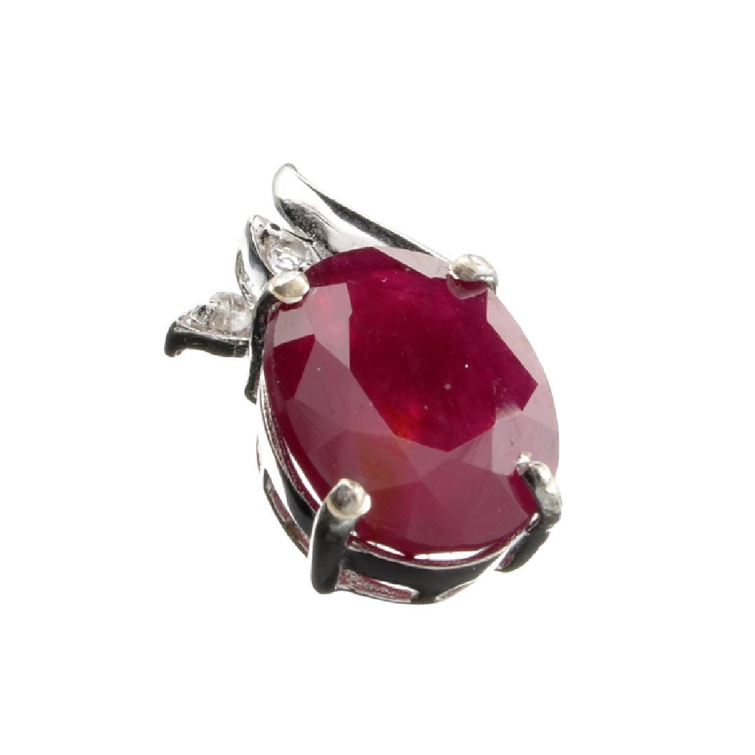 APP: 1.1k Fine Jewelry 4.47CT Ruby And Sterling Silver
