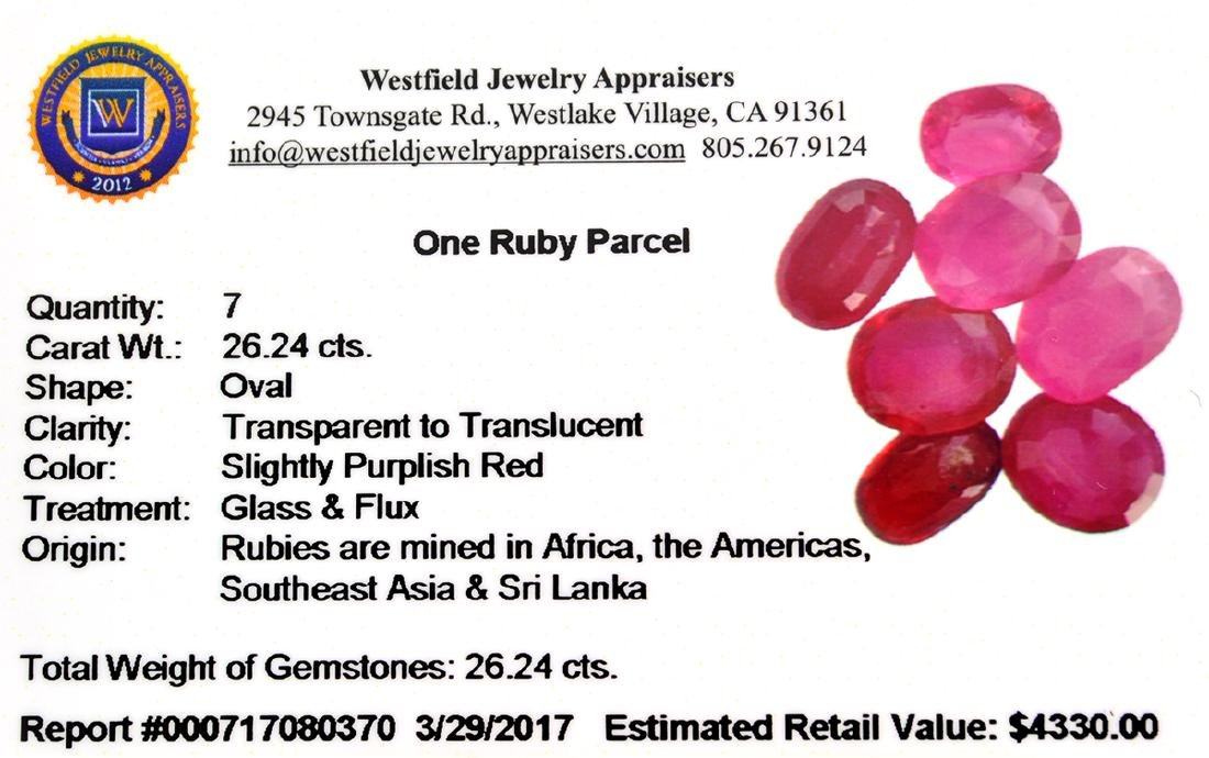 APP: 4.3k 26.24CT Oval Cut Ruby Parcel - 2