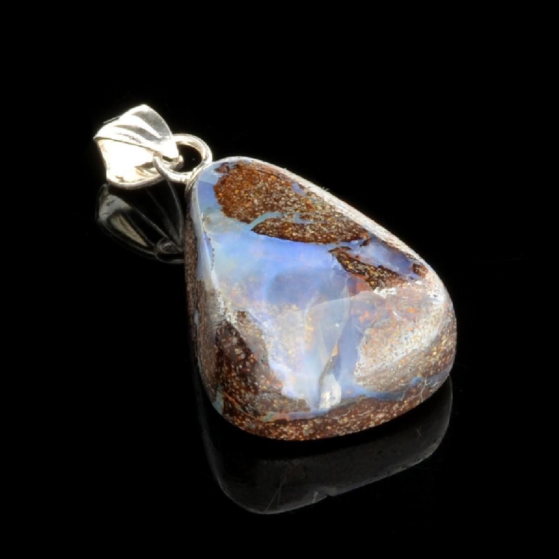 13.45 Boulder Opal Sterling Silver Pendant