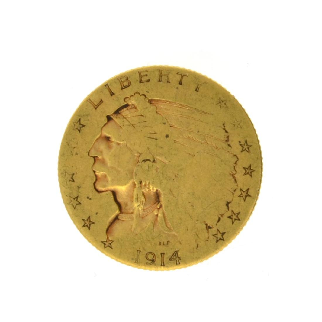 1914 $2.50 Indian Head Gold Coin