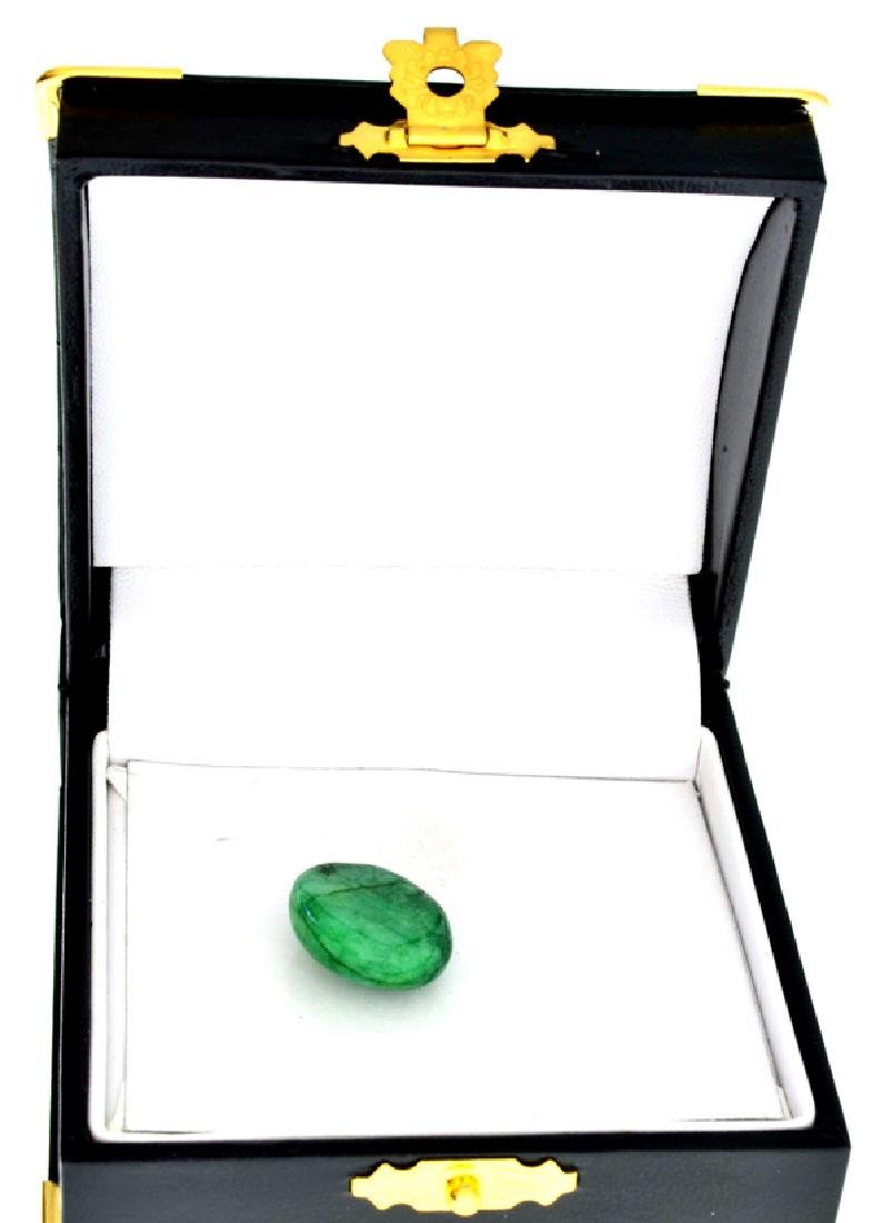 APP: 0.8k 14.90CT Oval Cut Cabochon Green Beryl