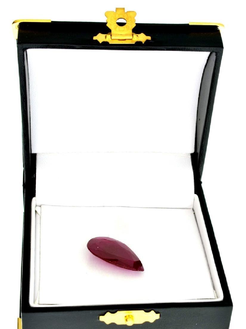 APP: 9k 13.40CT Pear Cut Ruby Gemstone
