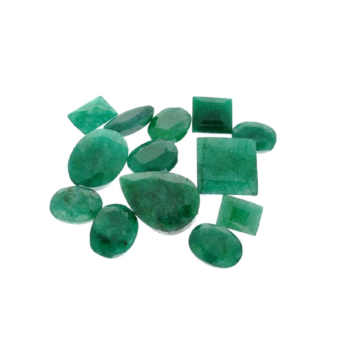 APP: 7.5k 100.53CT Various Shapes Green Emeral Parcel -