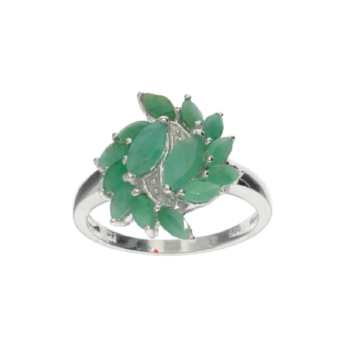 APP: 0.5k Fine Jewelry 0.96CT Marquise Cut Green