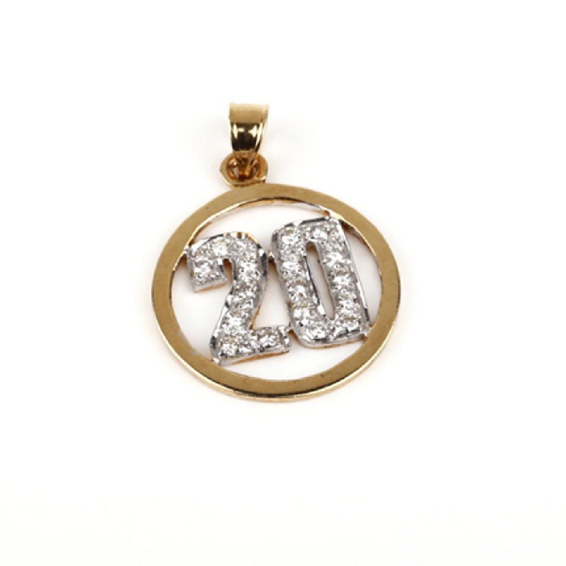 *Fine Jewelry 14KT Gold, 0.50CT Diamond Pendant (FJ