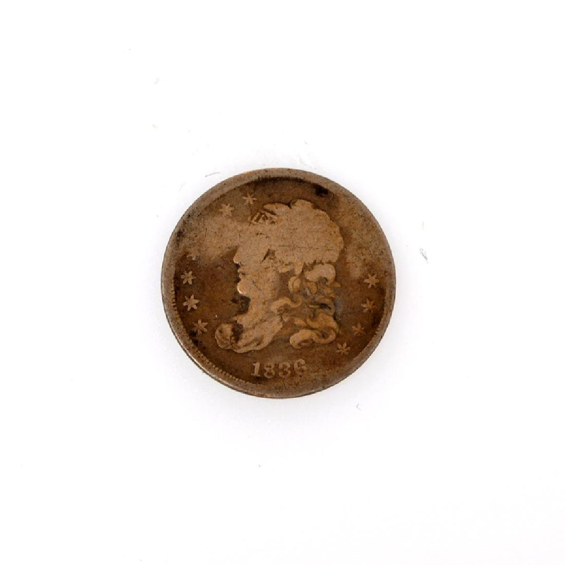 1836 Capped Bust Half Dime Coin