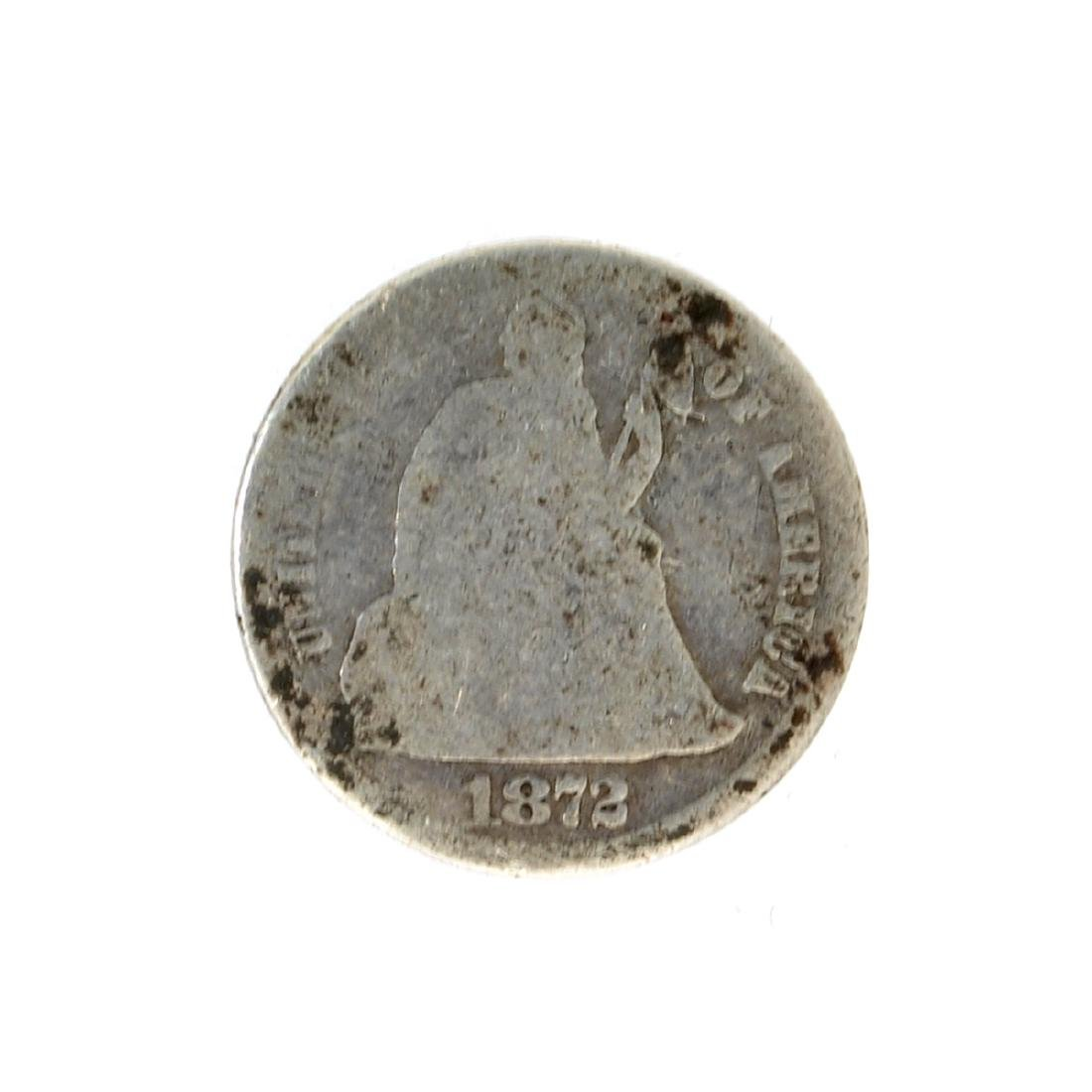 1872 Liberty Seated Dime Coin