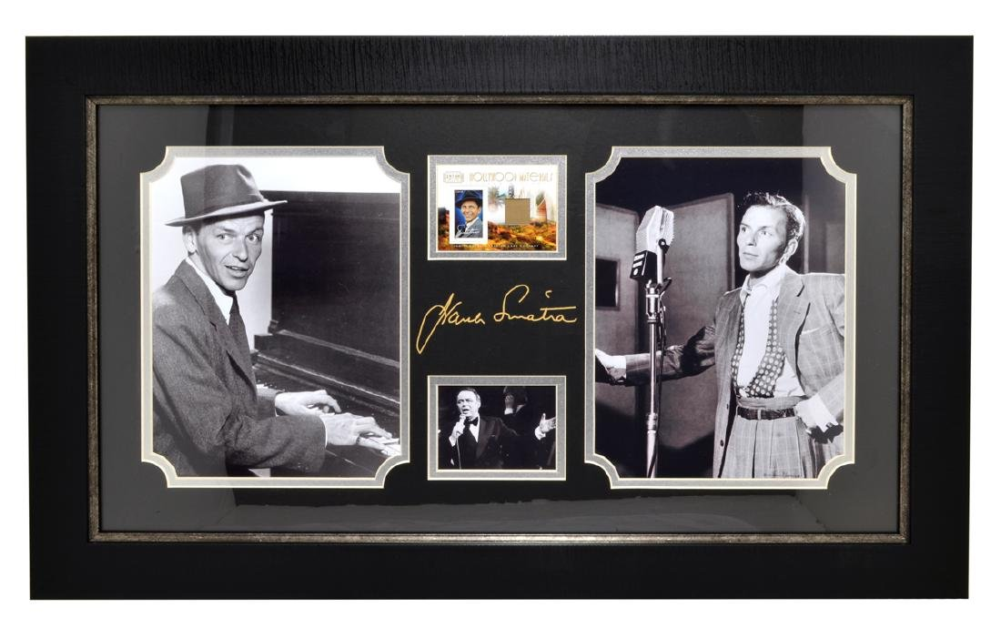 Very Rare Plate Signed Photo Of Frank Sinatra With