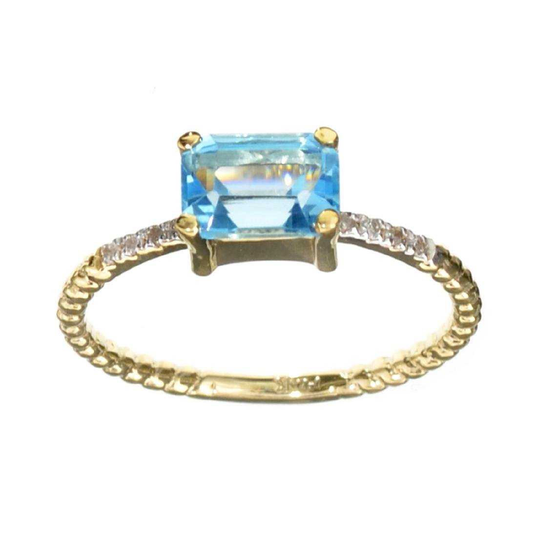 APP: 0.7k Fine Jewelry 14KT Gold, 1.38CT Blue Topaz