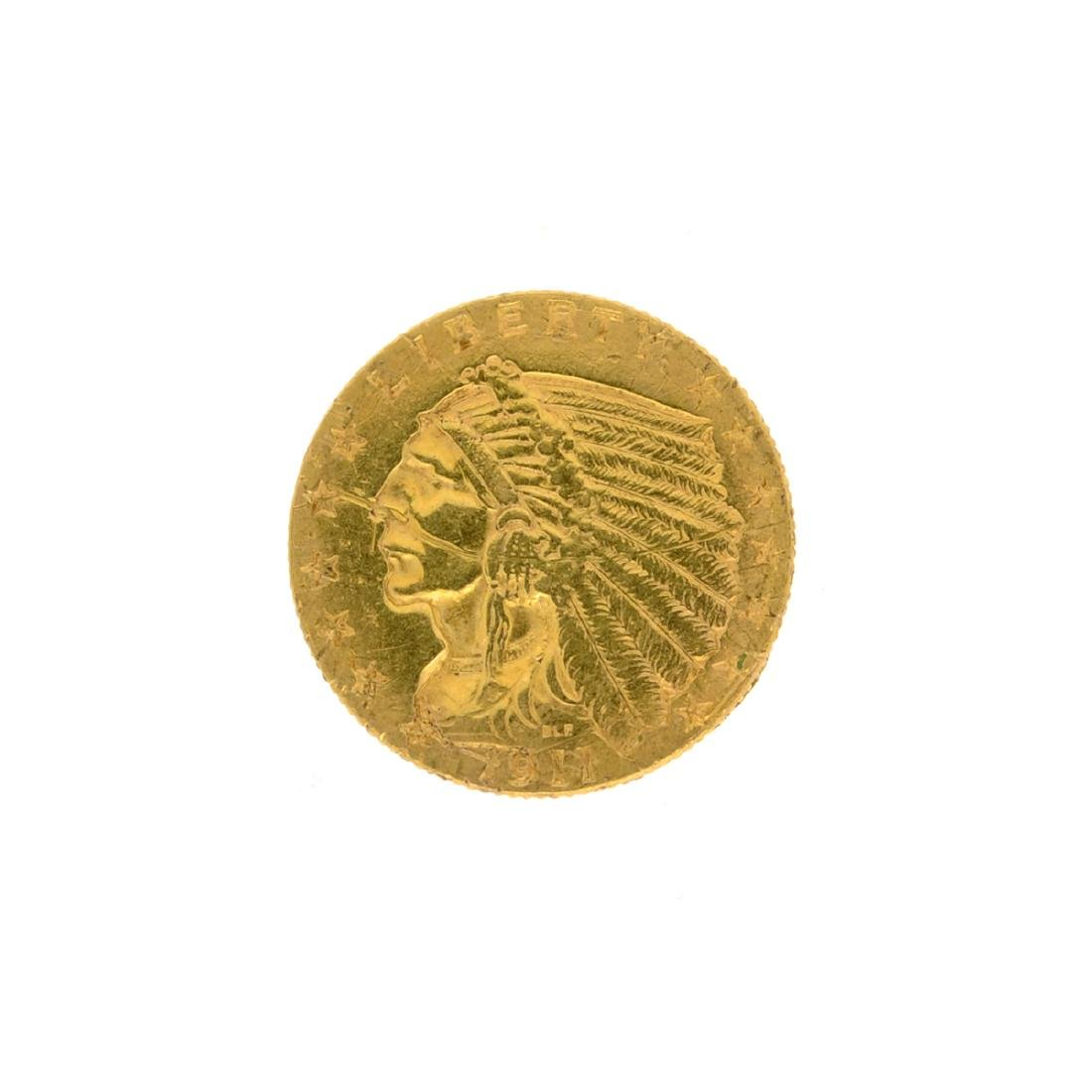 1911 $2.50 U.S. Indian Head Gold Coin
