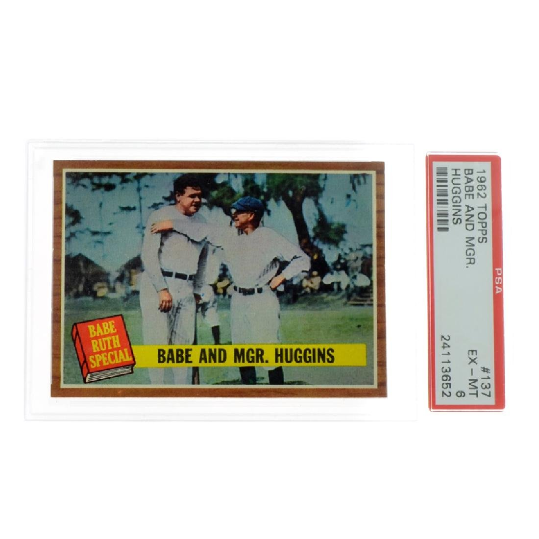 Rare Babe Ruth 1962 Topps Babe And Mgr. Huggins Card