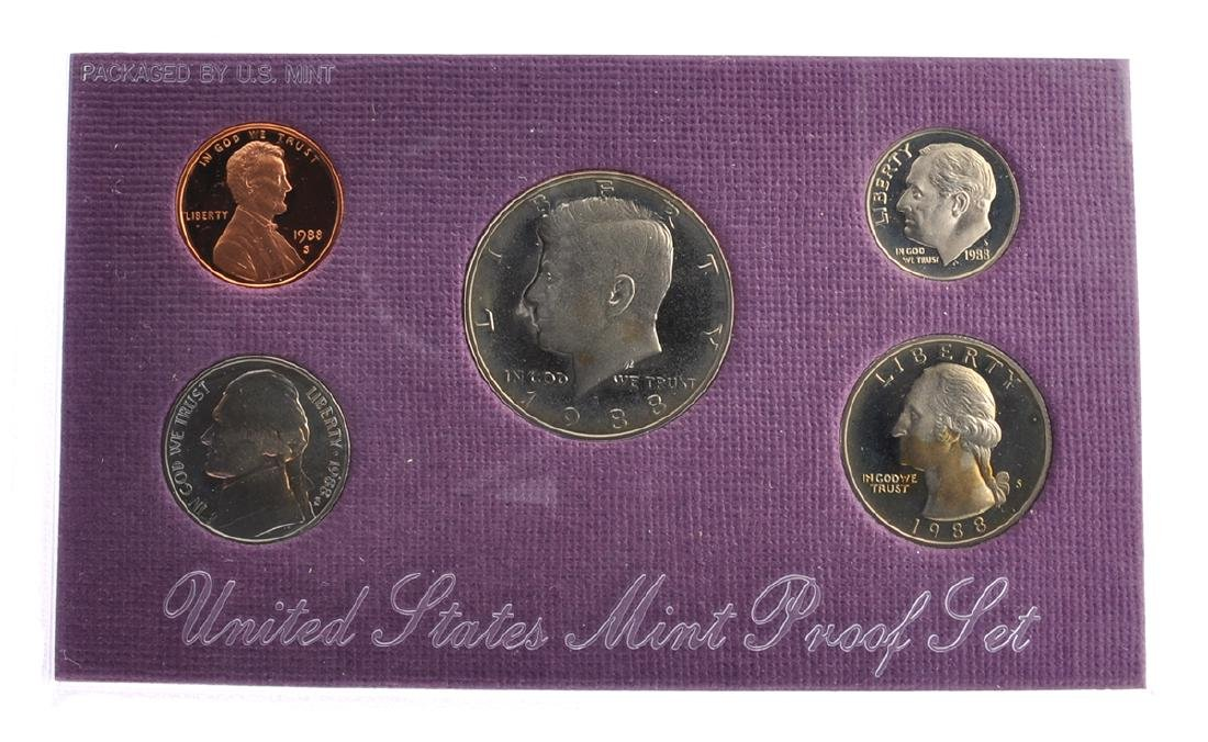 1988 United States Mint Proof Coin Set
