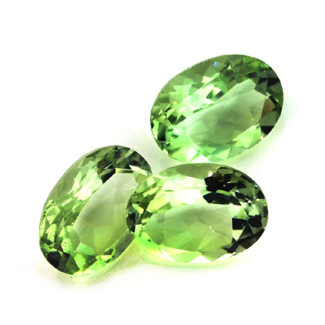 APP: 1k 22.0OCT Oval Cut Green Quartz Parcel