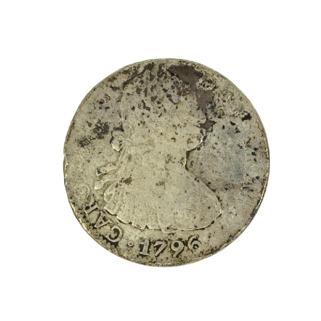 1796 Eight Reales American First Silver Dollar Coin