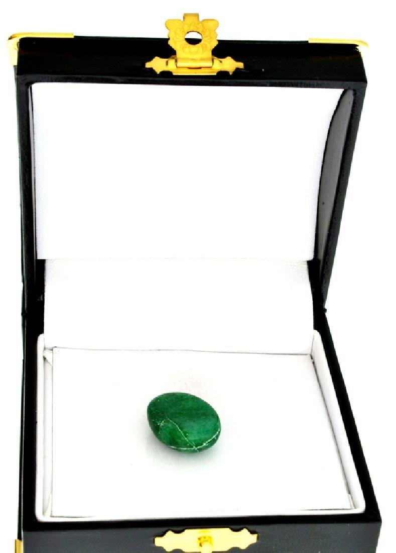 APP: 0.8k 14.45CT Oval Cut Cabochon Green Beryl