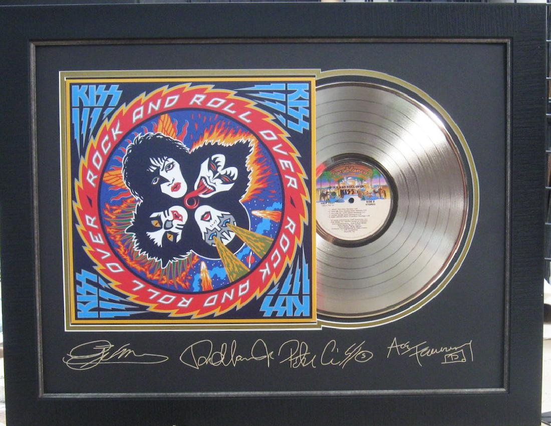 Engraved Kiss Gold Album