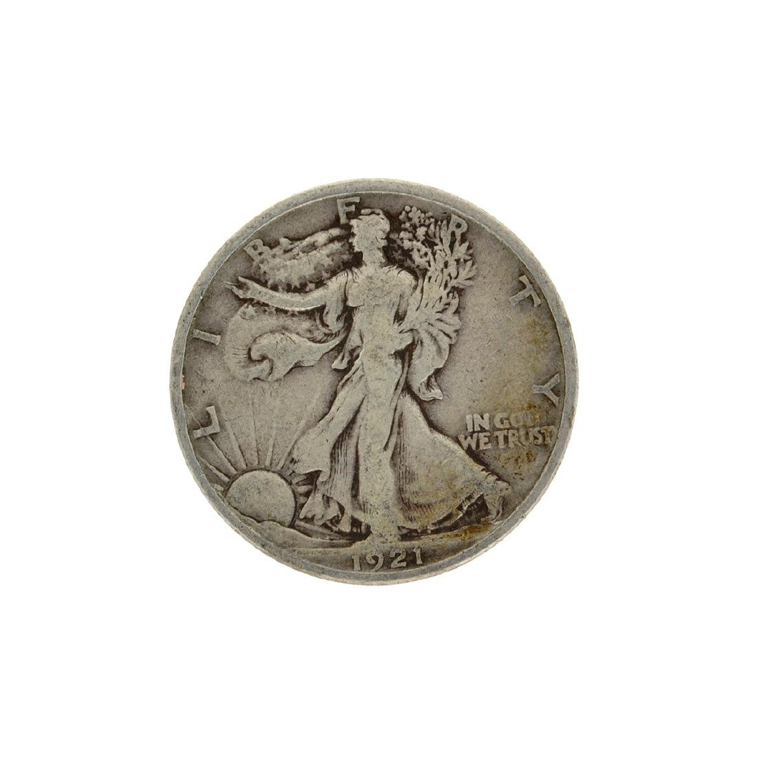 1921 Liberty Walking Half Dollar Key Coin