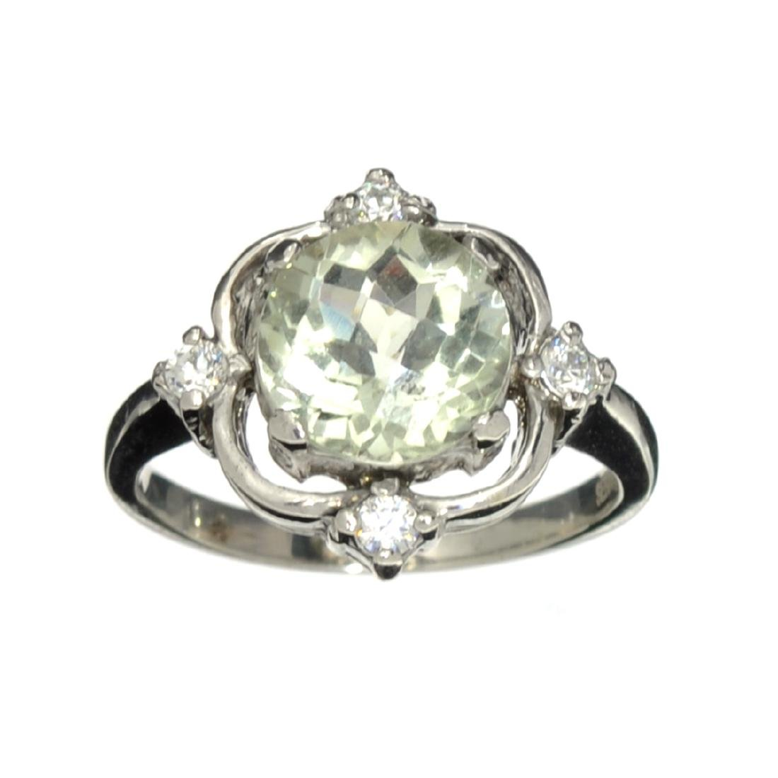 Fine Jewelry Designer Sebastian 2.95CT Round Cut Green