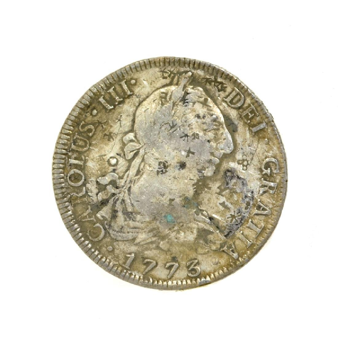 1773 Extremely Rare Eight Reales American First Silver