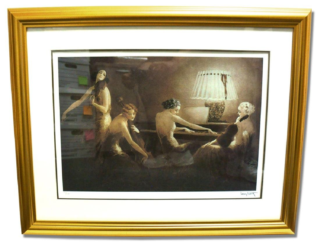 Icart  (After) - Melody Hours - Museum Framed Giclée