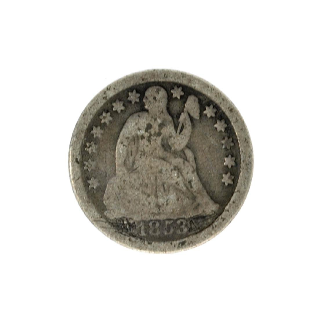 1853 Liberty Seated Dime Coin