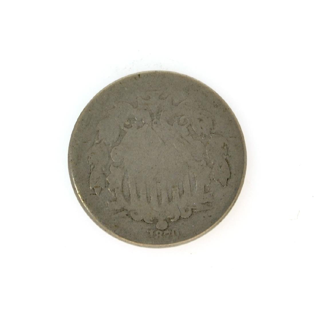 1870 Shield Nickel Coin