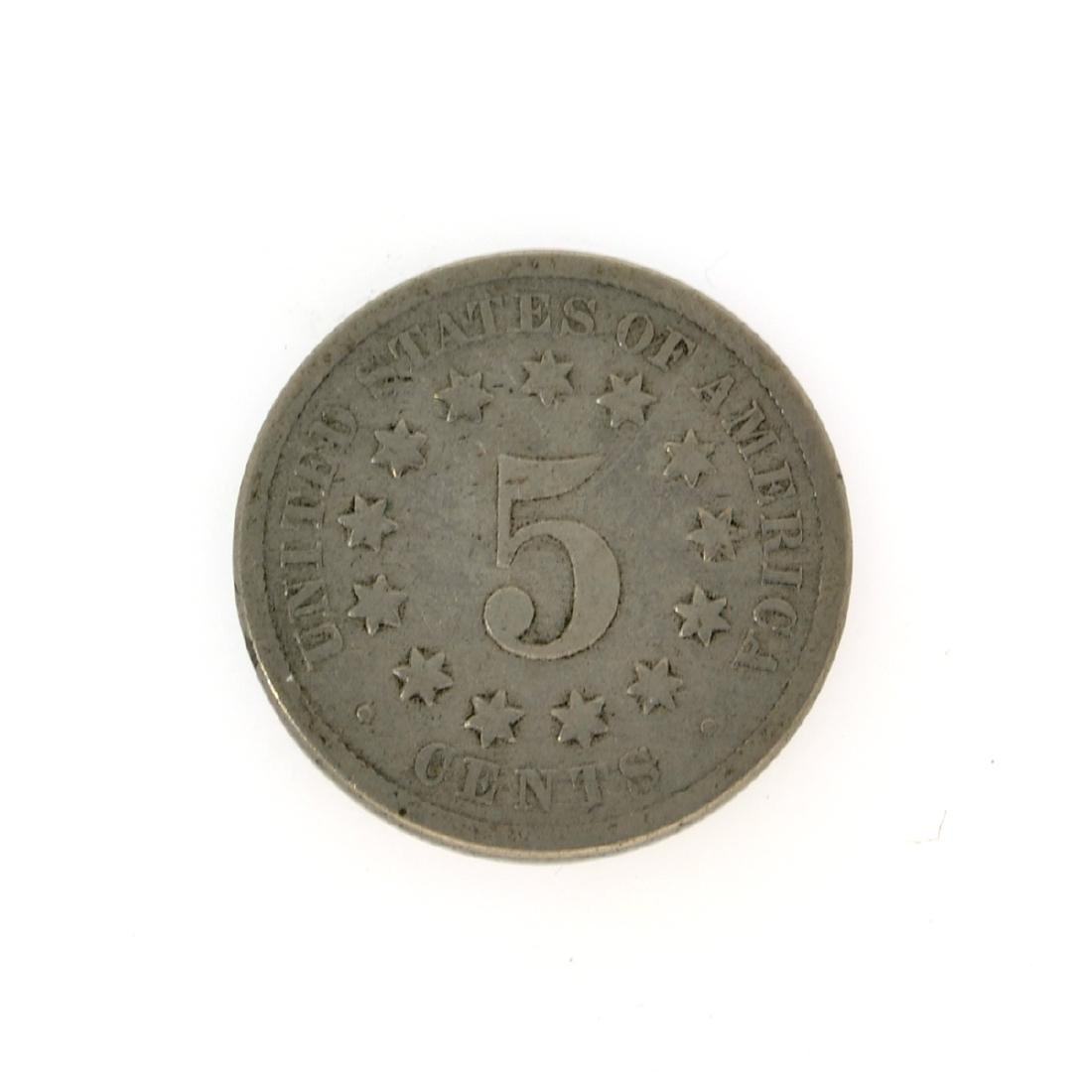 1870 Shield Nickel Coin - 2