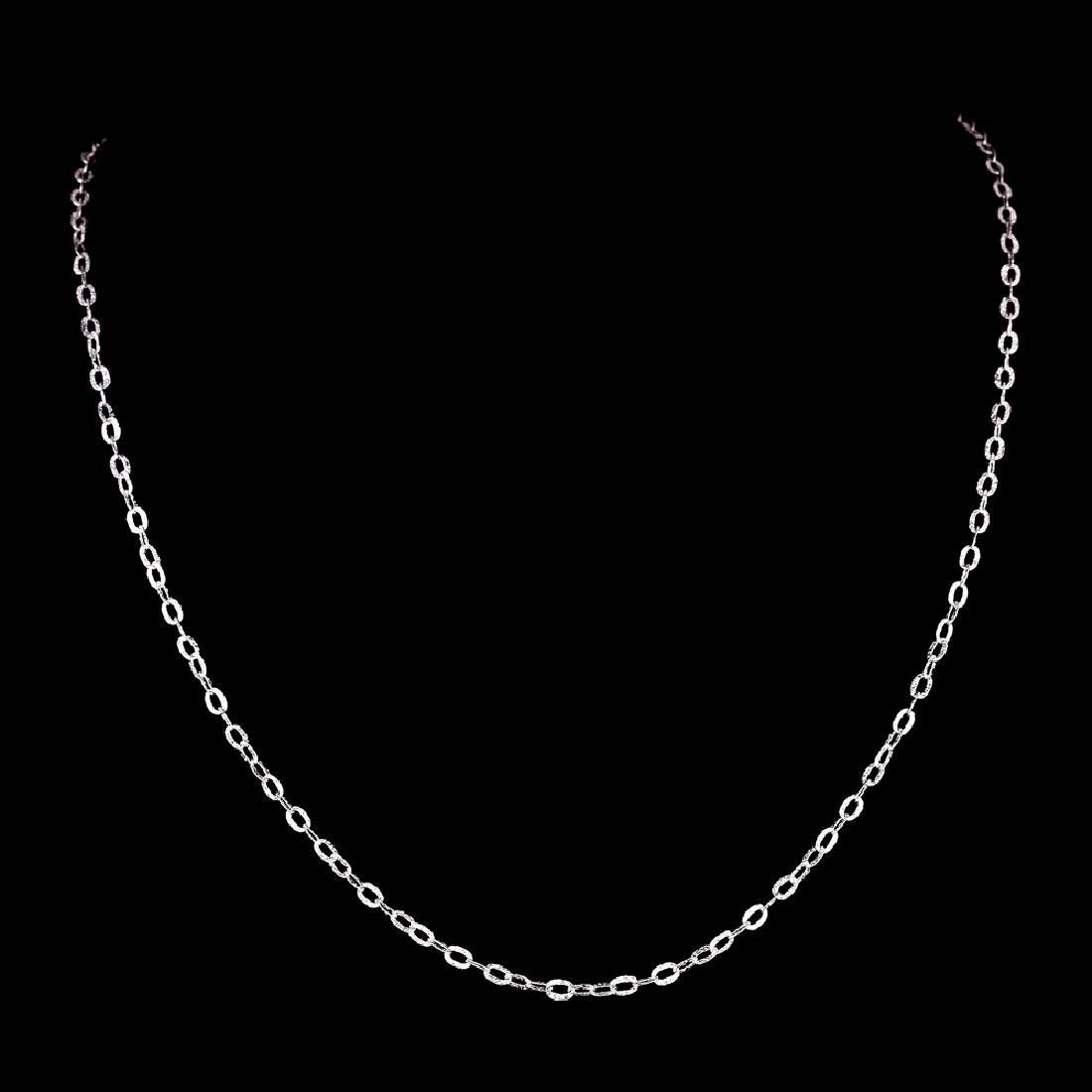 *Fine Jewelry 14KT White Gold, 2.0GR, 18'' Corrugated