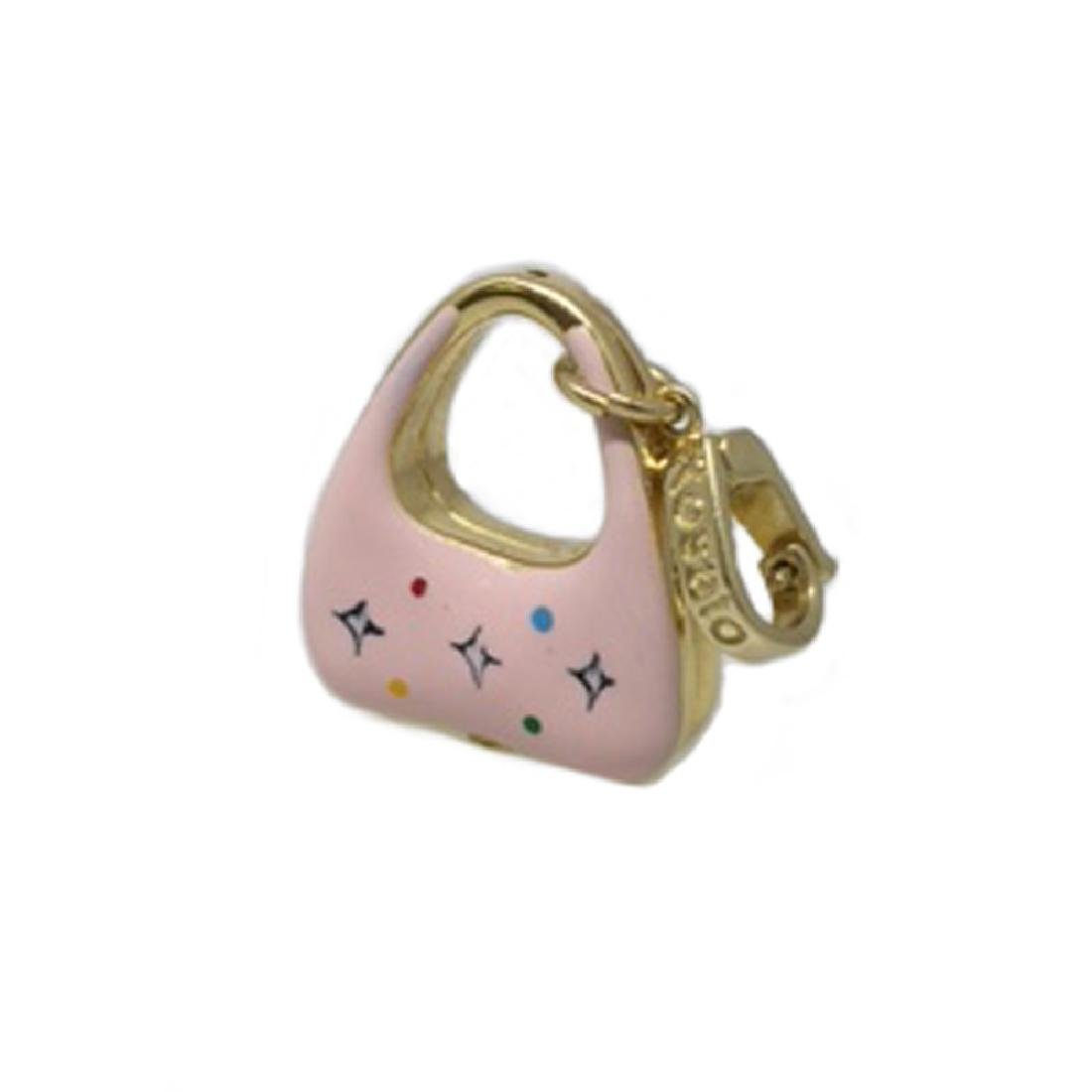 *Fine Jewelry 14KT Gold, Made In Italy, Pink Purse