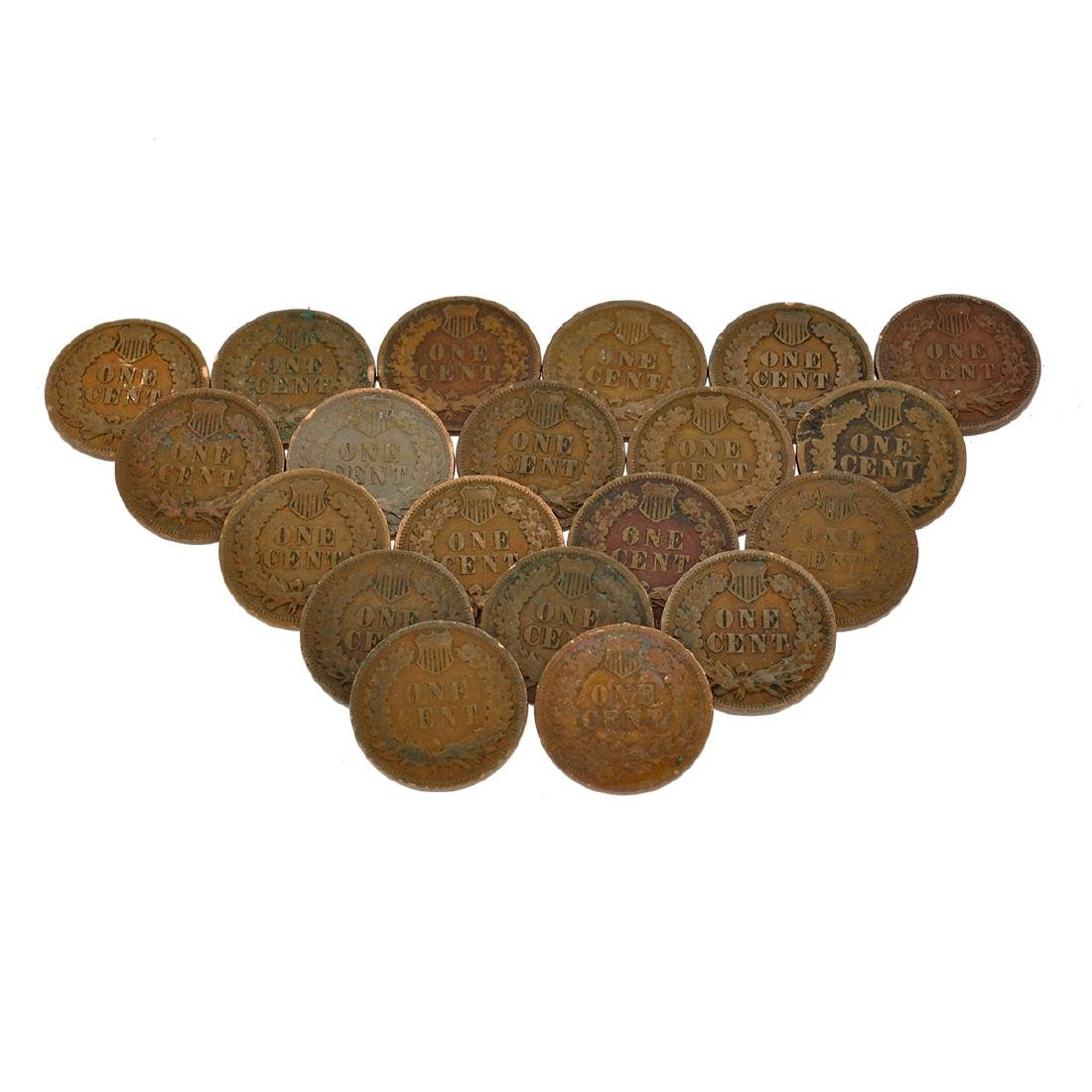 20 Indian Head One Cent Coins - 2