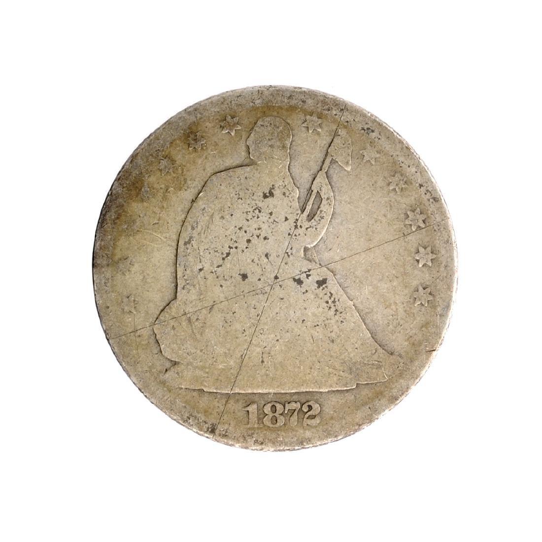 1872-S Liberty Seated Half Dollar Coin