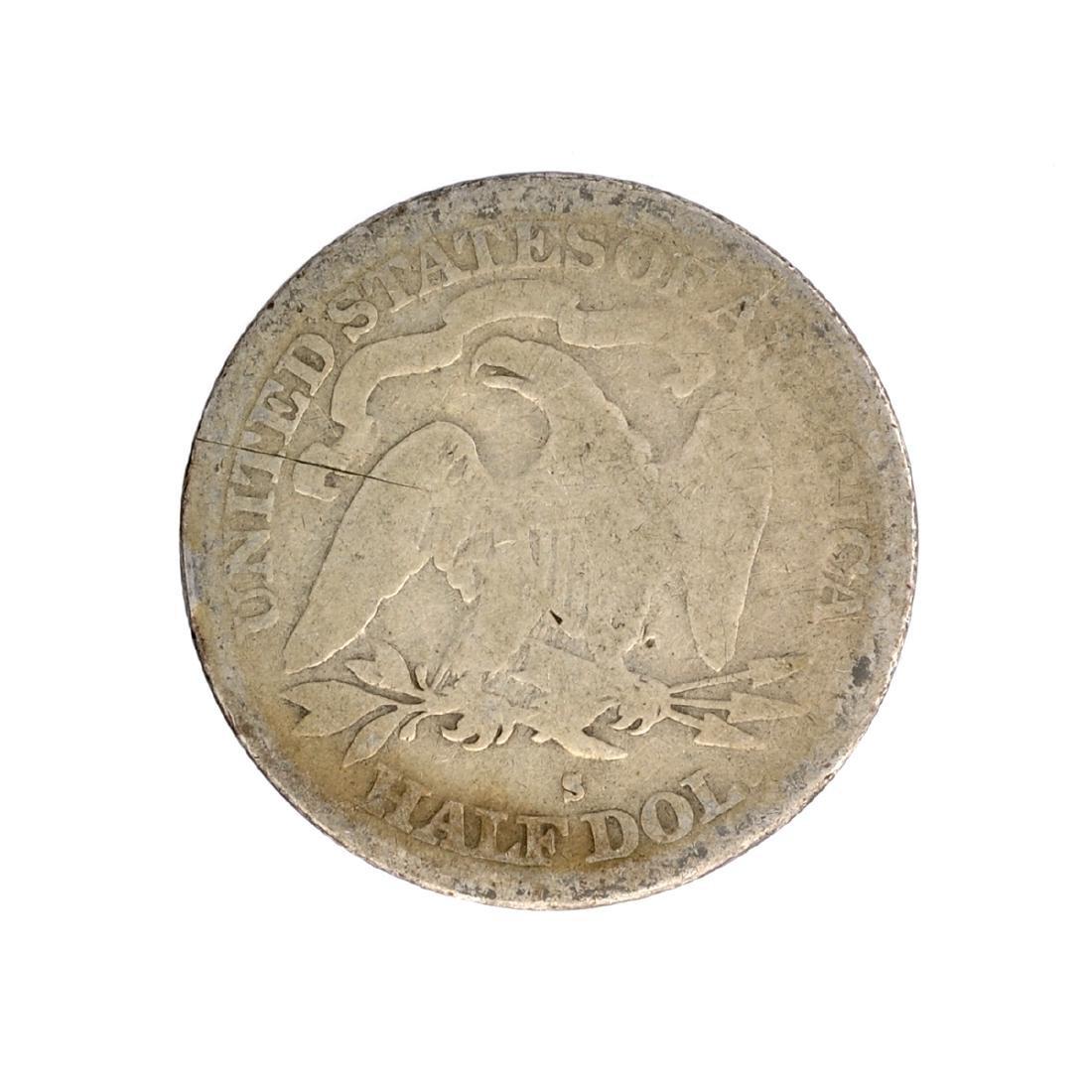 1872-S Liberty Seated Half Dollar Coin - 2